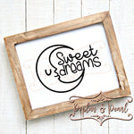 Sweet Dreams Nursery SVG DXF PNG