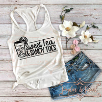 Sweet Tea & Sandy Toes SVG DXF PNG