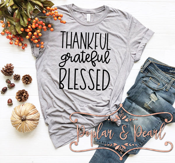 Thankful Grateful Blessed SVG DXF PNG