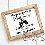 Family Sign Template Tractor SVG DXF PNG