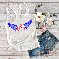 USA Wings SVG DXF PNG