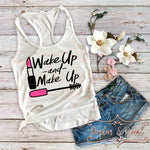 Wake Up and Make Up SVG DXF PNG