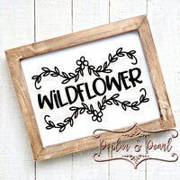 Wildflower SVG DXF PNG