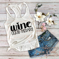 Wine: Liquid Therapy SVG DXF PNG