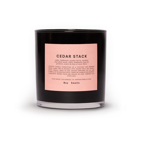 Boy Smells Cedar Stack Candle Available at Oliv Beauty Market Canada