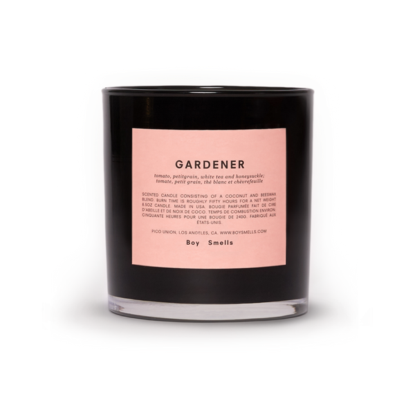 Boy Smells Gardener Candle/Bougie Available at Oliv Beauty Market Canada