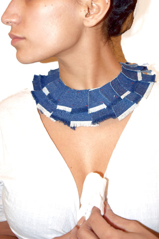Denim Bib Necklace