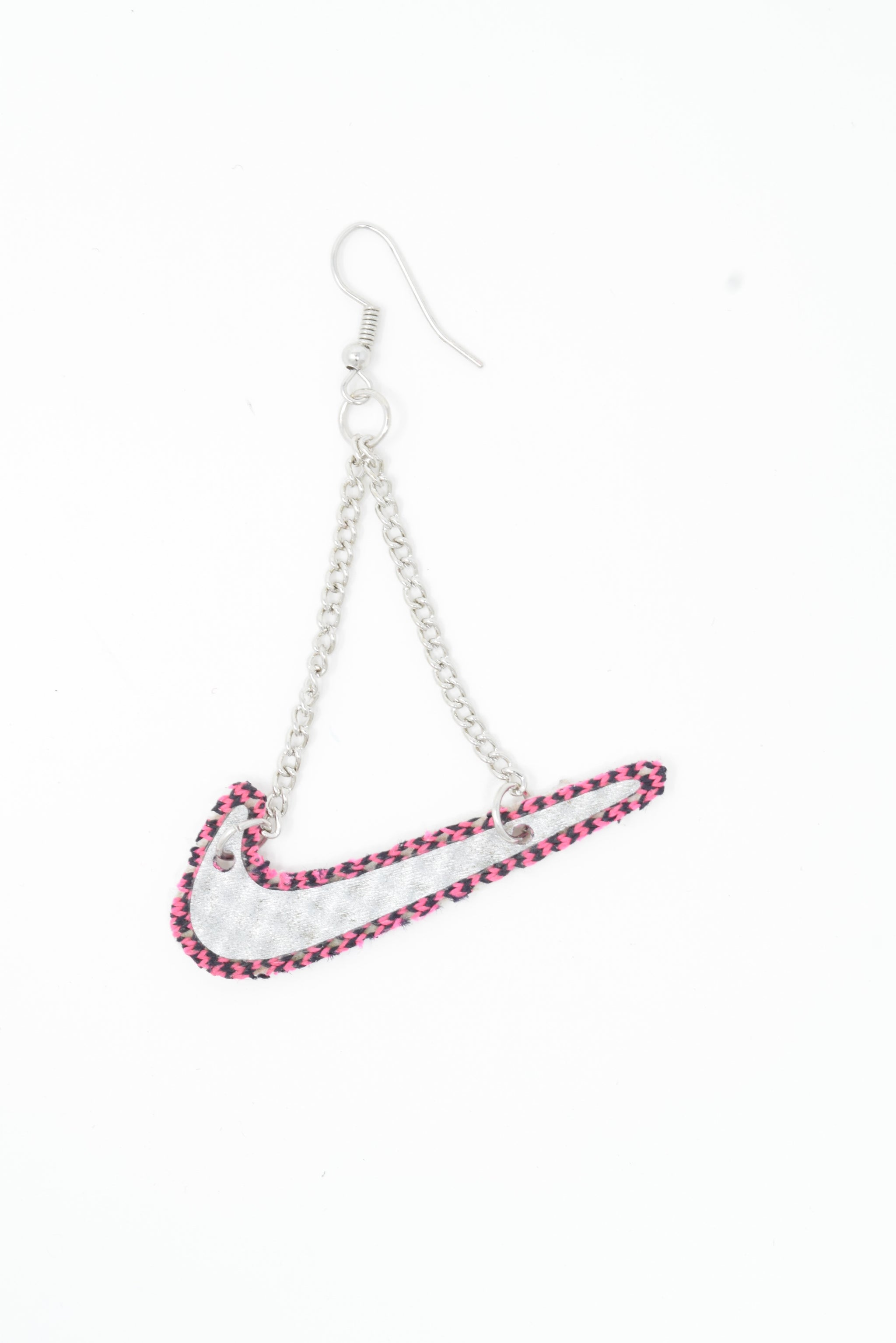 Nike Necklace or Earring - Silver and Pink
