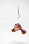 Barbie Head Doll Keychain
