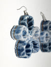 Flower Denim Earrings