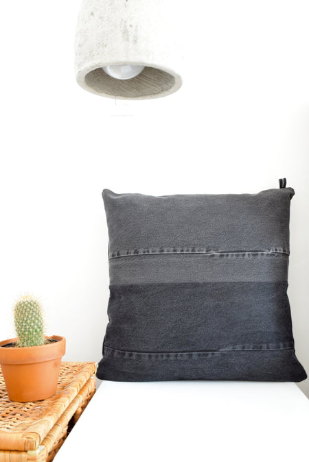 Black Denim Pillow Cover
