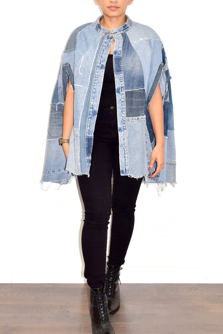 Denim Cape