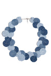 Denim Dot Necklace #3