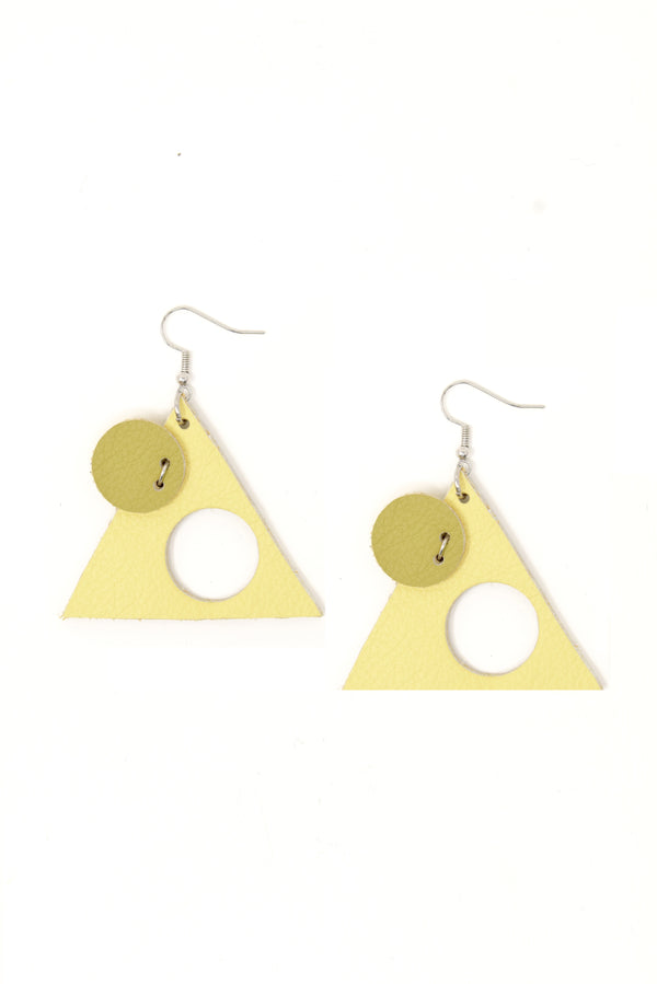 Triangle Earrings - Leather