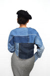 Long Sleeve Denim Kimono Top