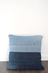 denim pillow cover, denim pillow case, upcycled denim patchwork denim
