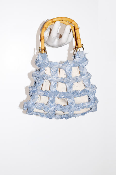 Braided Denim Purse