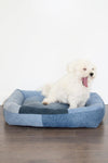Denim Dog Bed, Patchwork Denim bed