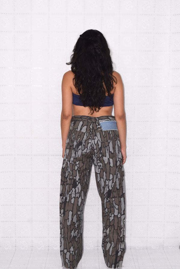 Patched Camo Pants