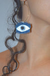 Eye Earrings, denim earrings