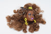 Barbie Head Doll Keychain Brown Hair pretty