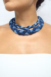 Double Braided Denim Necklace