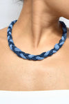 Denim Necklace, reworked denim Necklace