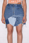 Reworked Denim Skirt Sz 26''