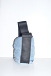 Reworked Small Denim Bag (leather strap)