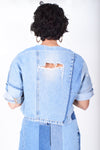 Denim Crop Top For Women