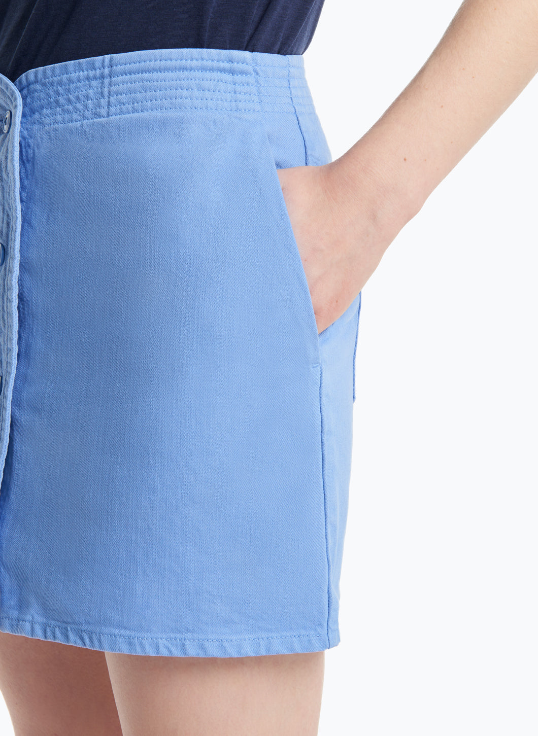 Judo Miniskirt in Light Blue Denim
