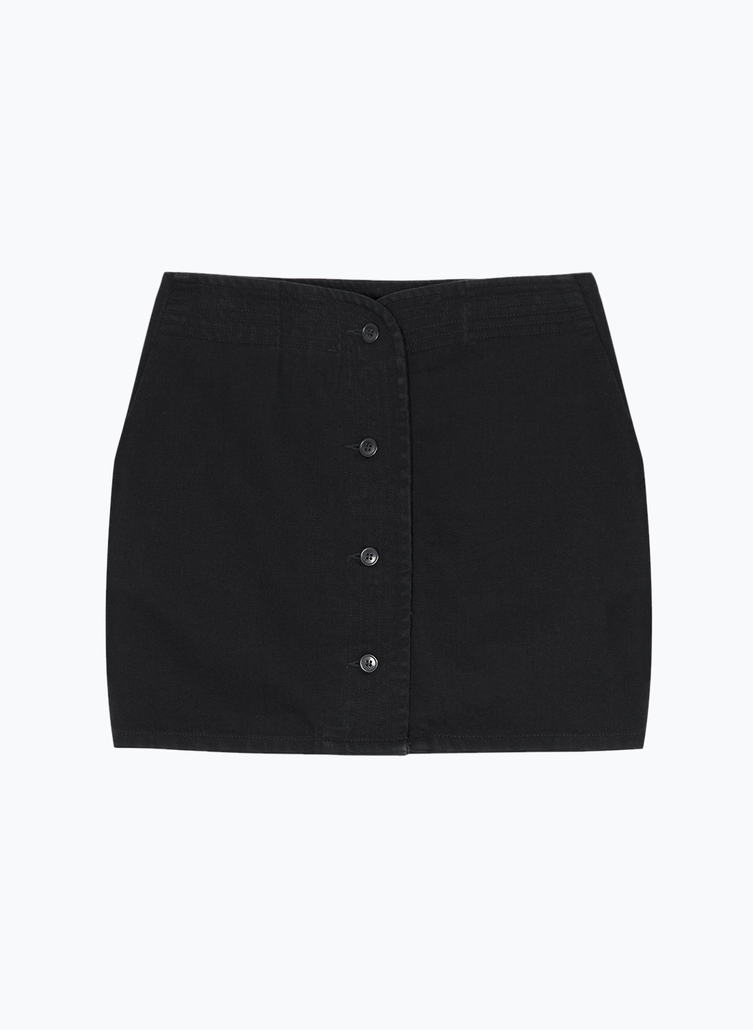 Judo Miniskirt in Black Denim