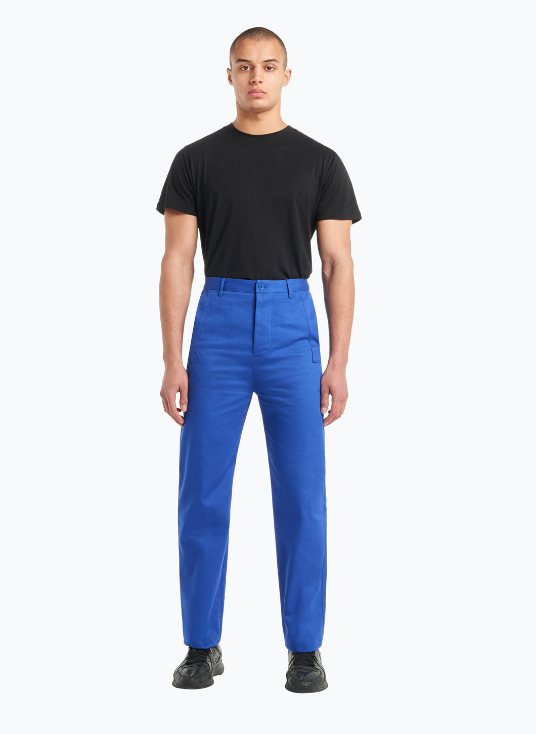 Pants with Reinforced Pockets in Royal Blue Gabardine