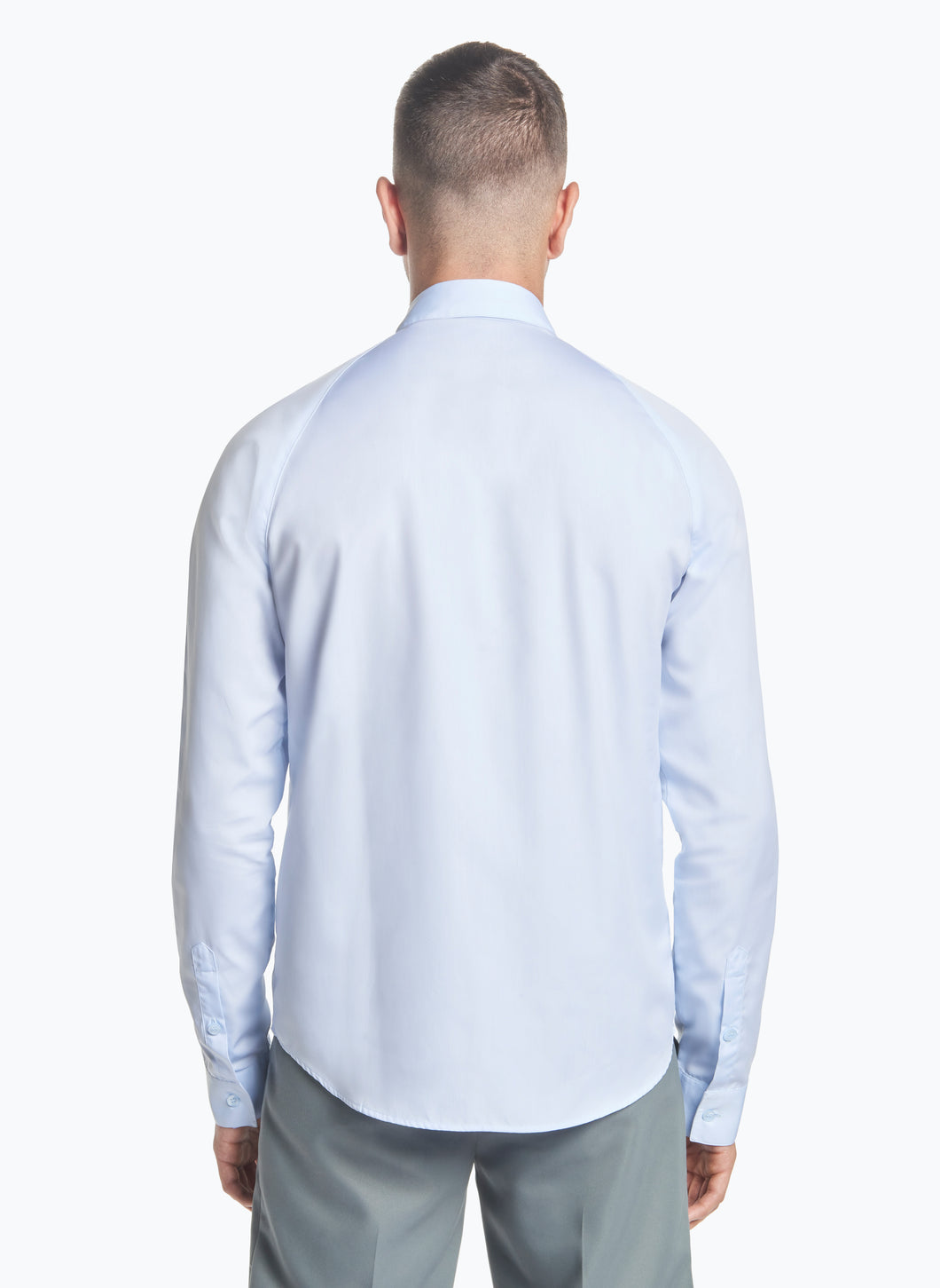 Raglan Sleeve Shirt in Sky Blue Poplin