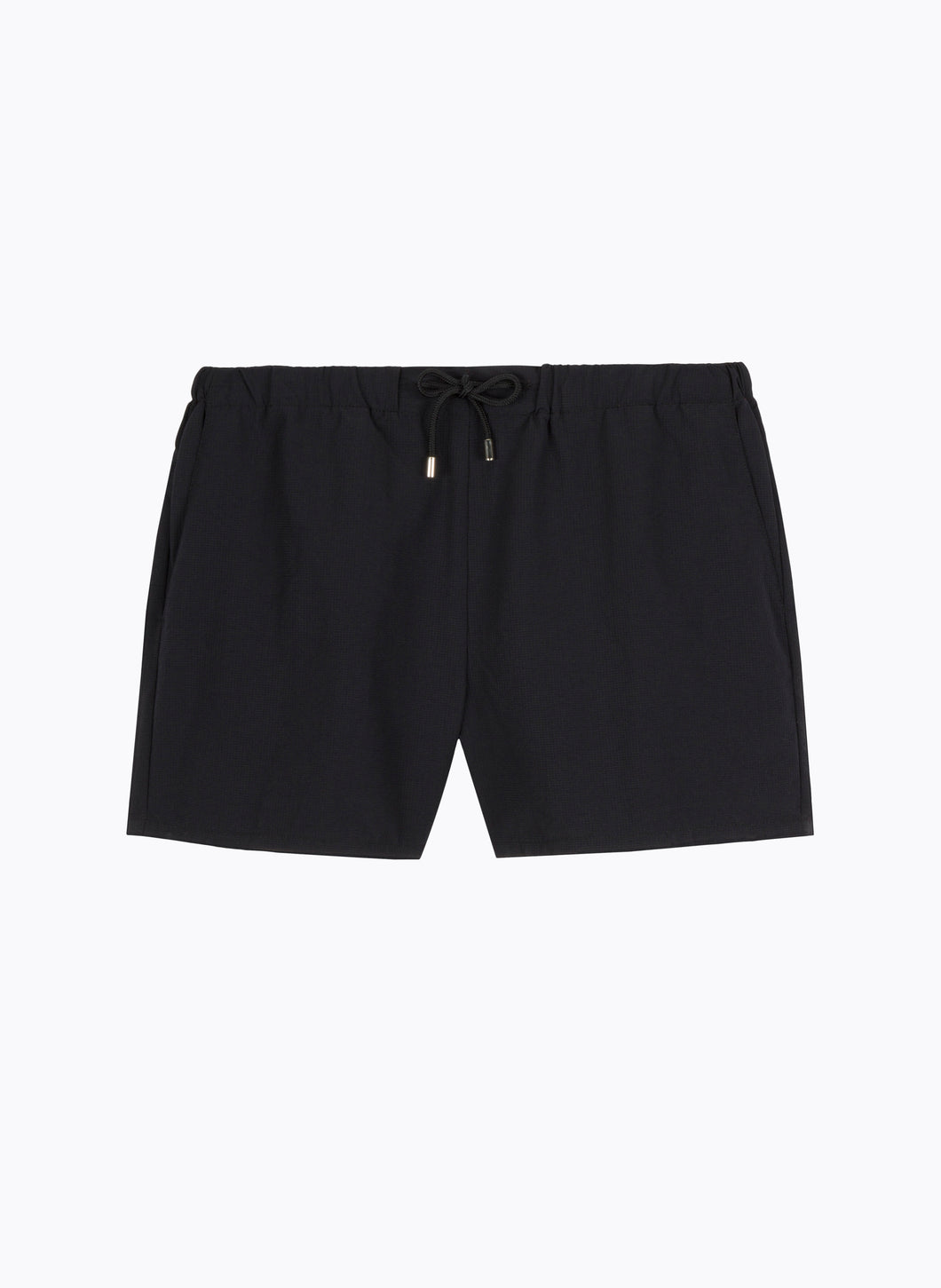 Swim Shorts with Italian Pockets in Black Ripstop