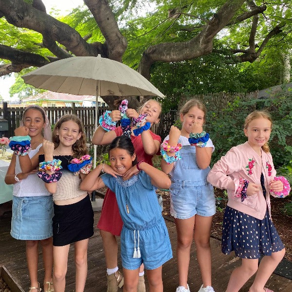 Scrunchie Sewing Parties - Kids - SewingAdventures - SewingAdventures - sewing brisbane -brisbane sewing school - brisbane sewing studio -learn to sew brisbane - kids sewing - teen sewing - adult sewing