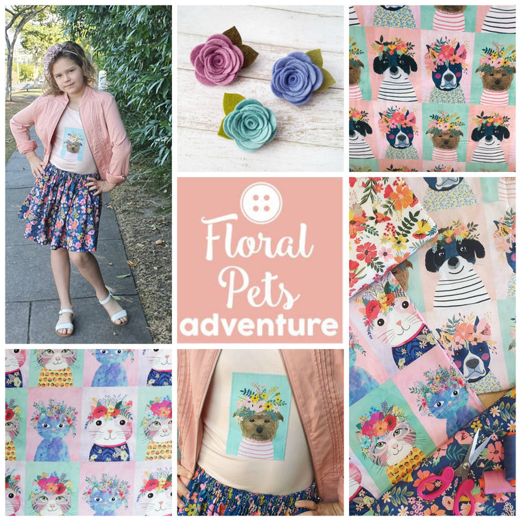 Floral Pets Sewing Adventure