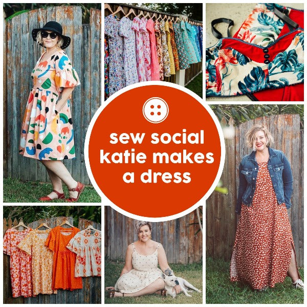 Sew Social - Katie Makes A Dress -  - SewingAdventures - SewingAdventures - sewing brisbane -brisbane sewing school - brisbane sewing studio -learn to sew brisbane - kids sewing - teen sewing - adult sewing