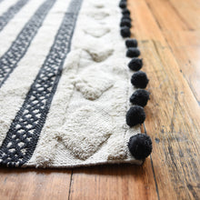 MATISSE TUFTED RUG BLACK POM POM