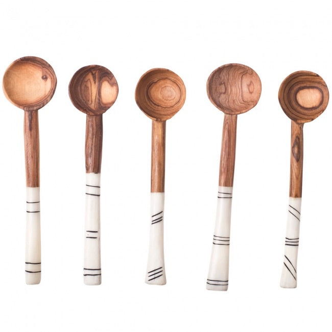 WOOD & BONE SUGAR SPOON