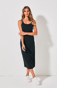 Cross Court Dress - Black