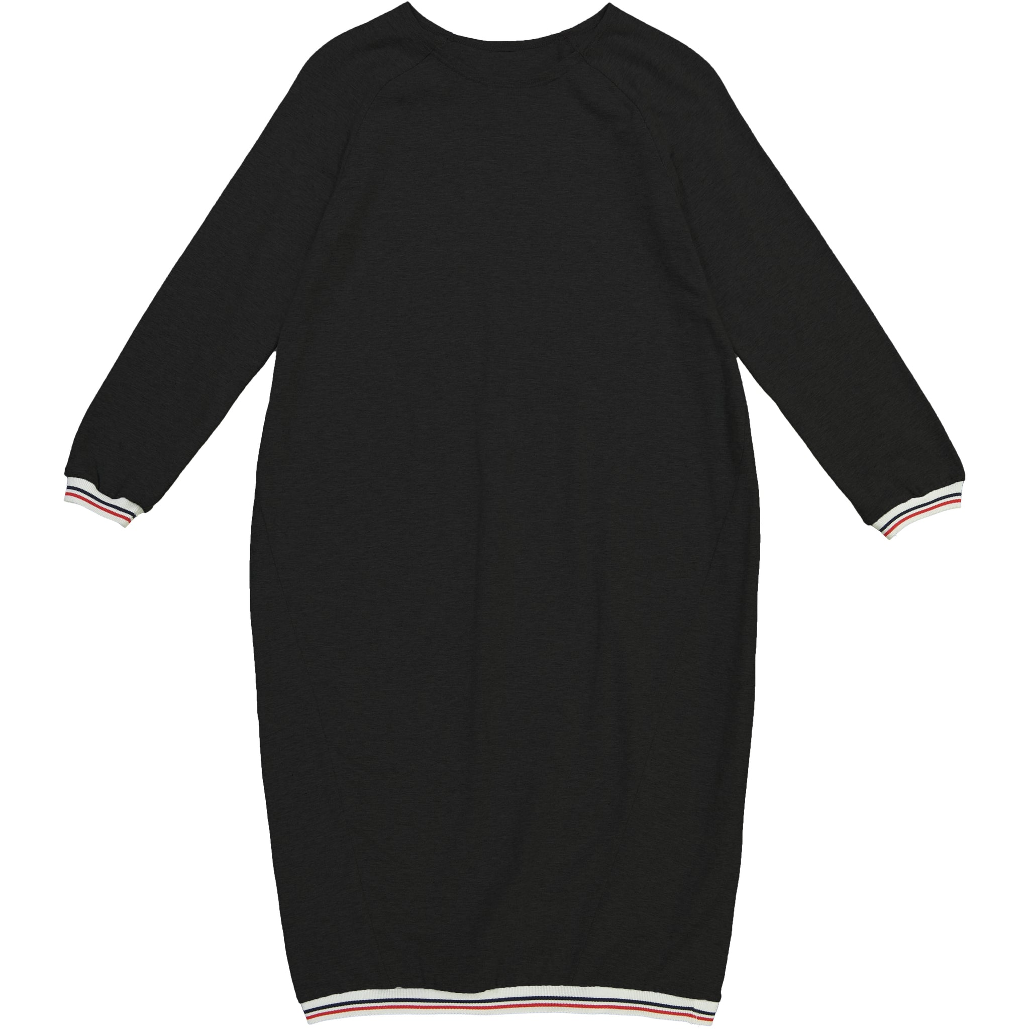 Athletic Trim Dress Black