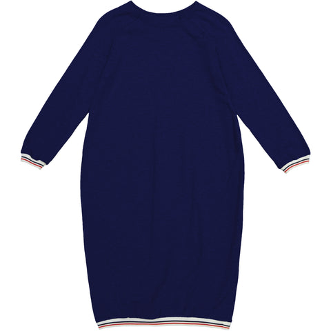 Athletic Trim Dress Navy