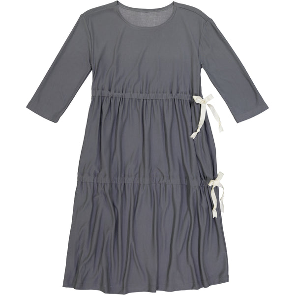 Side Tie Dress Grey