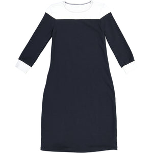 Navy Color Block Dress