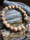 Striped Lotus Bodhi Seed Bracelet