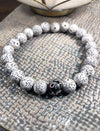 White Lotus Seed Tiger Iron Bracelet