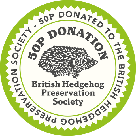 50p from every bottle sale is donated to the British Hedgehog Preservation Society on your behalf.