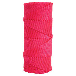 Fluorescent Pink Braided Nylon Mason's Line - 500' Tube