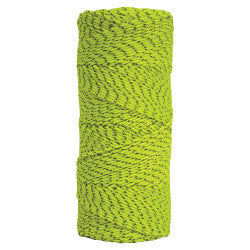 Green & Black Bonded Braided Nylon Line - 500' Tube